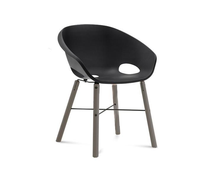 Stolička Globe-L - Jedálenská stolička (antracit lak,antracit lak,čierna)