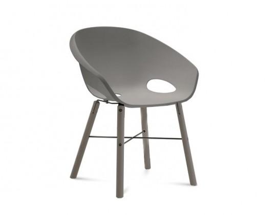 Stolička Globe-L - Jedálenská stolička (antracit lak, piesková)