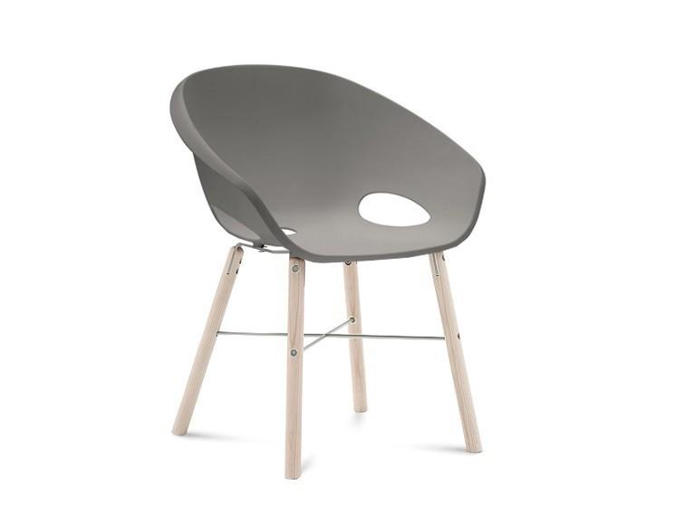 Stolička Globe-L - Jedálenská stolička (biely jaseň, hliník, piesková)