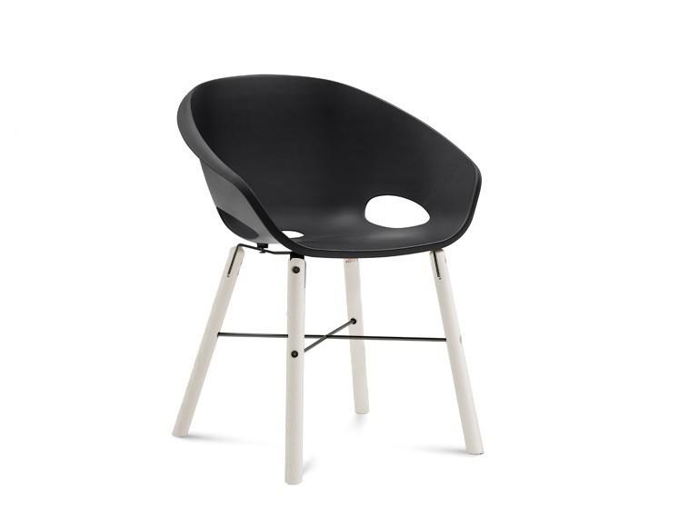 Stolička Globe-L - Jedálenská stolička (biely lak, antracit lak, čierna)