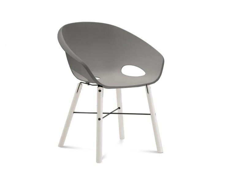 Stolička Globe-L - Jedálenská stolička (biely lak,antracit lak,piesková)