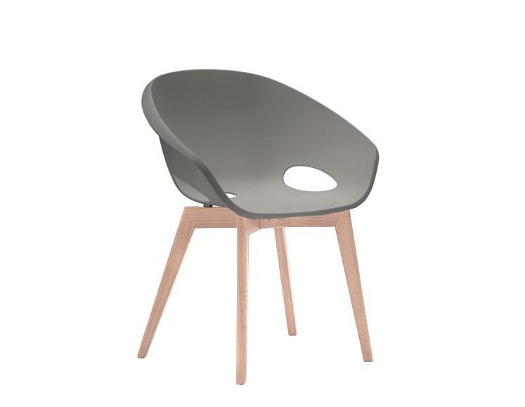 Stolička Globe-LG - Jedálenská stolička (bielený dub, piesková)