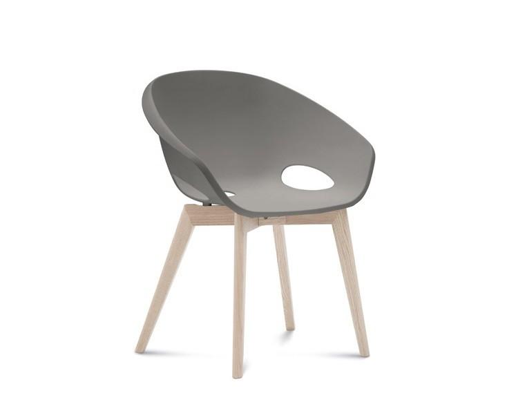 Stolička Globe-LG - Jedálenská stolička (biely jaseň, piesková)