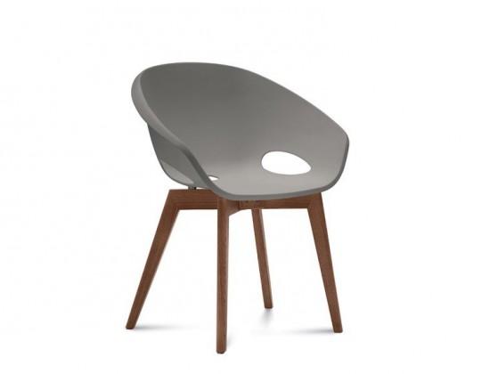 Stolička Globe-LG - Jedálenská stolička (orech, piesková)