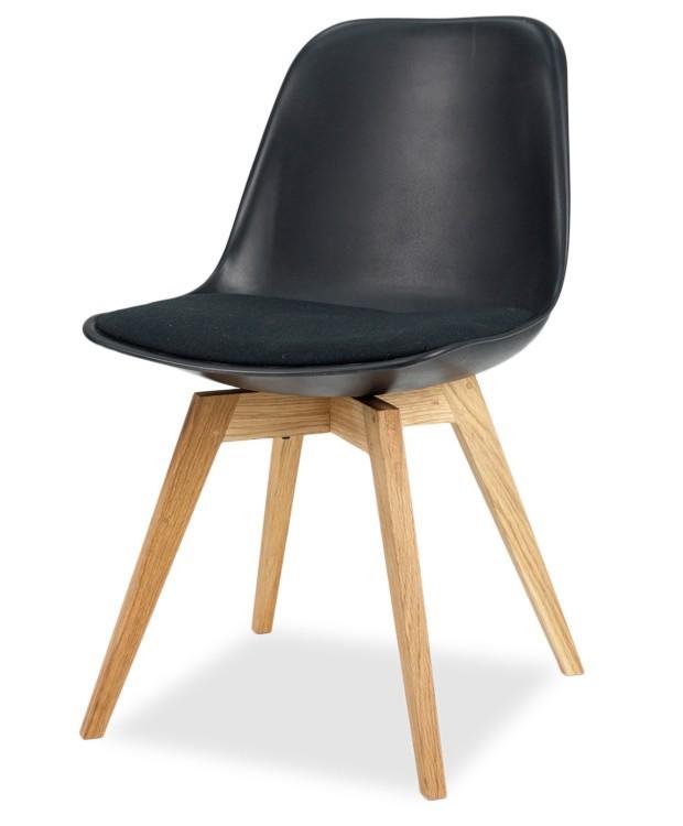 Stolička GRACE 9360-124+BESS 9347-054 (čierna,dub)