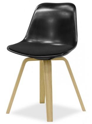 Stolička GRACE 9360-124+ELLA 9348-054 (čierna,dub)
