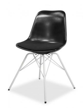 Stolička GRACE 9360-124+PORGY 9346-801 (čierna,biela)