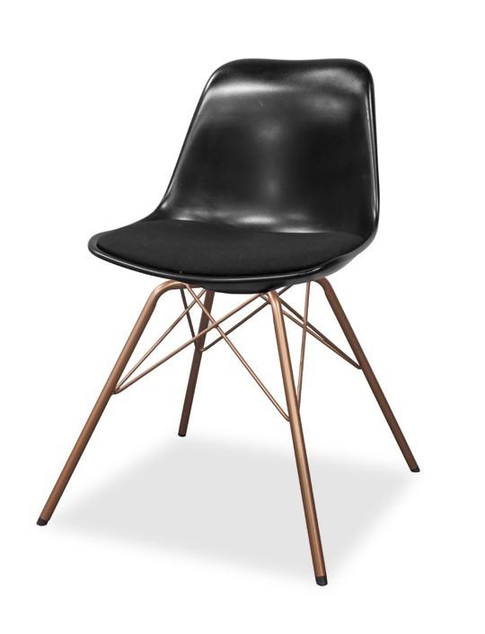 Stolička GRACE 9360-124+PORGY 9346-889 (čierna,meď)