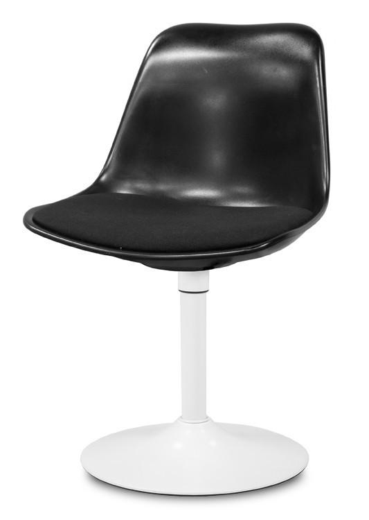 Stolička GRACE 9360-124+TRUMPET 9341-801 (čierna,biela)