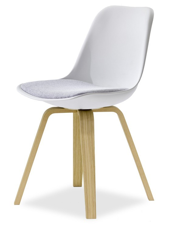Stolička GRACE 9360-413+ELLA 9348-054 (biela,šedá,dub)