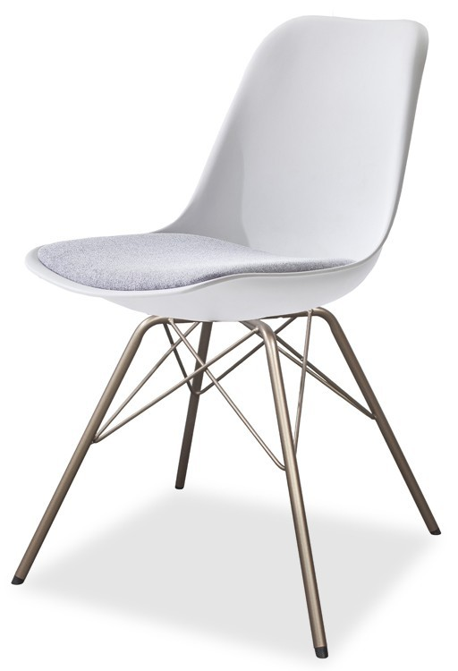 Stolička GRACE 9360-413+PORGY 9346-888 (biela,šedá,bronz)