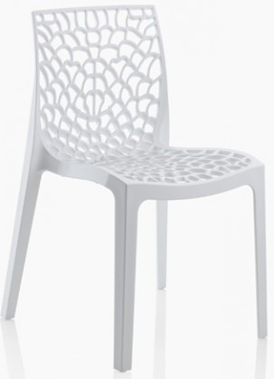 Stolička Gruvyer - Jedálenská stolička (biela)