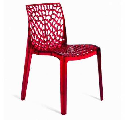 Stolička Gruvyer(rosso transparente)