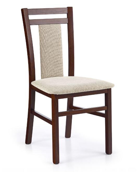 Stolička Hubert 8  (béžová vila 2, orech tmavý)
