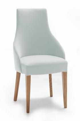 Stolička Isabela (dub/eko kože vienna sivá)