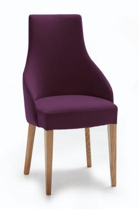 Stolička Isabela (dub/látka carabu fialová)