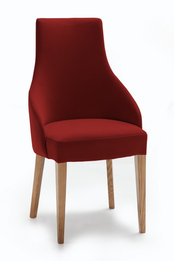 Stolička Isabela (dub/látka carabu karmínová)