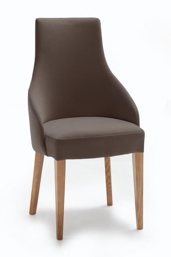 Stolička Isabela (dub/látka navara sivá)