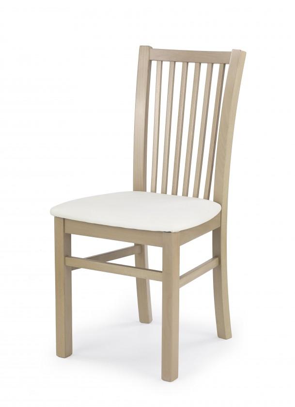 Stolička Jacek - Jedálenská stolička (biela, dub sonoma)