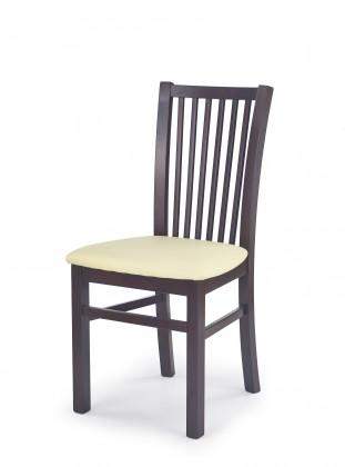 Stolička Jacek - Jedálenská stolička (krémová, tmavý orech)