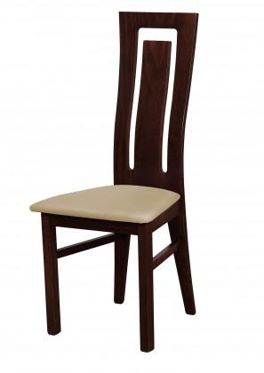 Stolička Jedálenská stolička Andre II (drevo - wenge/poťah - syntetická koža)