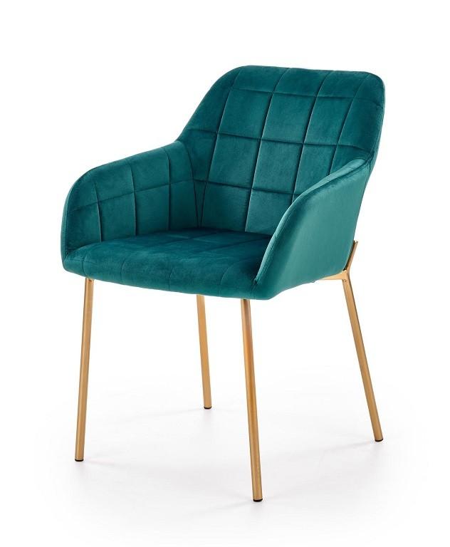 Stolička Jedálenská stolička Belen (látka, kov, zelená)