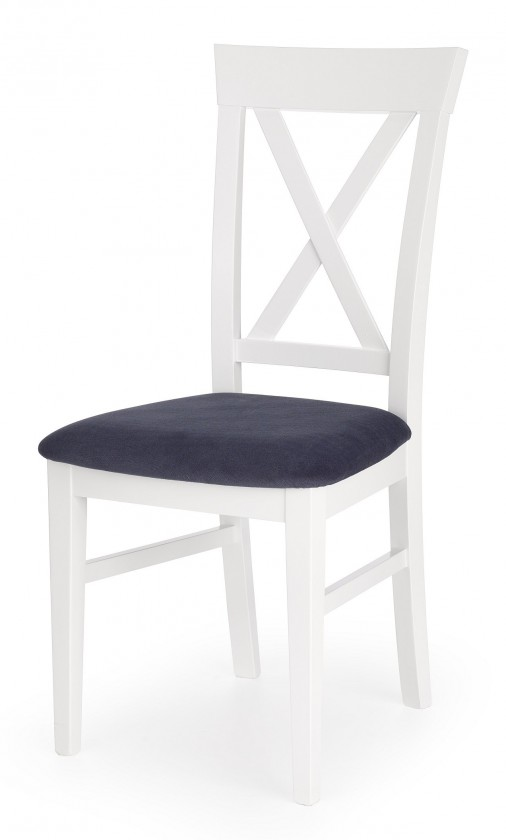 Stolička Jedálenská stolička Bergamo (masívny buk biela, látka)