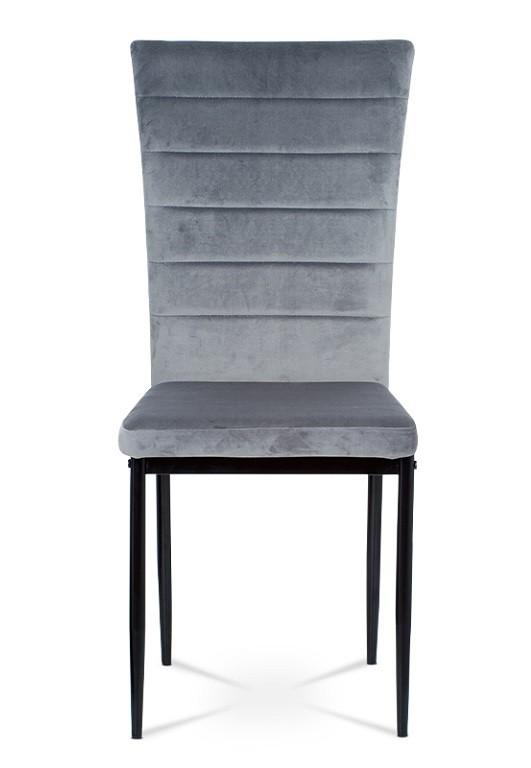 Stolička Jedálenská stolička Borge sivá/čierna