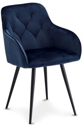 Stolička Jedálenská stolička Fergo modrá, čierna