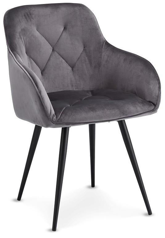 Stolička Jedálenská stolička Fergo sivá, čierna