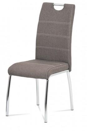 Stolička Jedálenská stolička Gasela hnedá/chróm