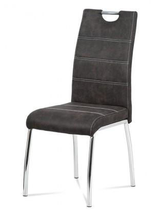 Stolička Jedálenská stolička Gasela sivá/chróm