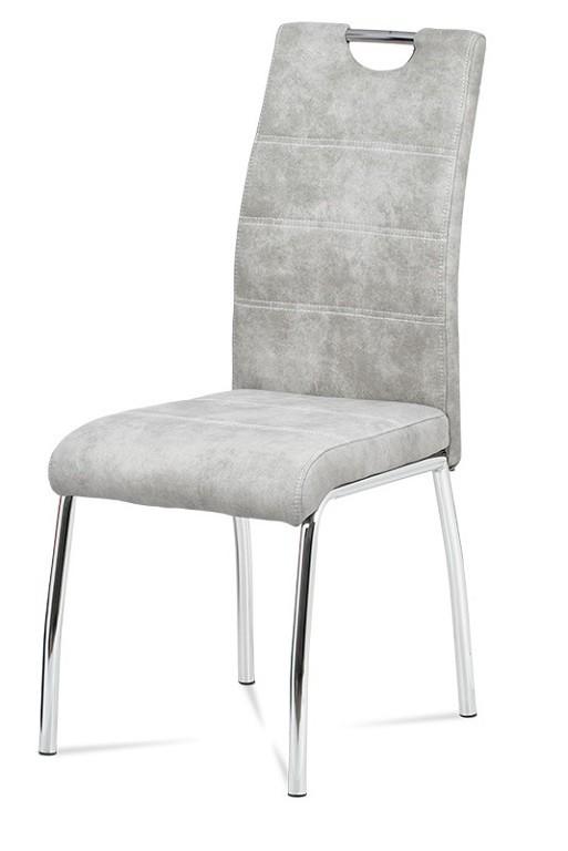 Stolička Jedálenská stolička Gasela strieborna/chróm