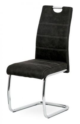 Stolička Jedálenská stolička Grama čierna/chróm