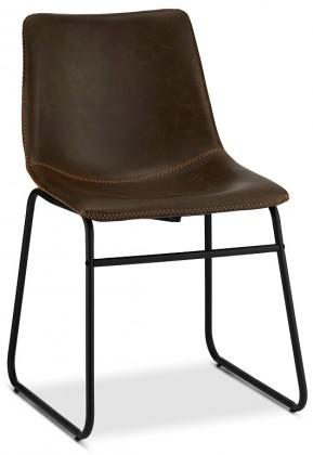 Stolička Jedálenská stolička Guaro tmavo hnedá, čierna