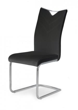 Stolička Jedálenská stolička K224 (čierná, strieborná)