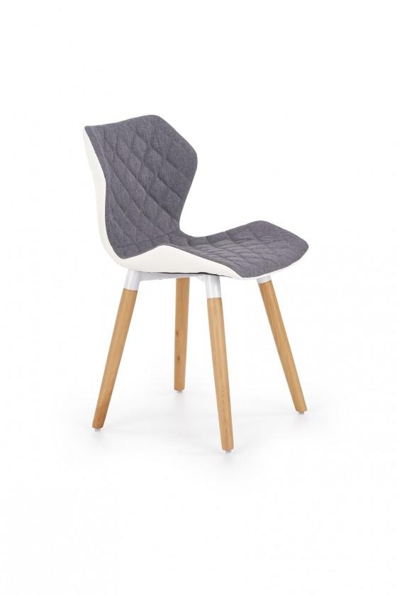 Stolička Jedálenská stolička K277 sivá, biela