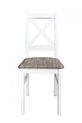 Stolička Jedálenská stolička Krzyžak new biela, sivá