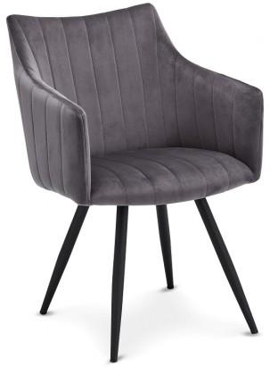Stolička Jedálenská stolička Mijas sivá, čierna