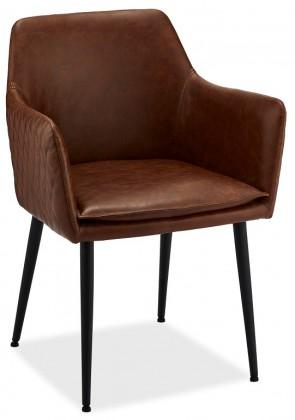 Stolička Jedálenská stolička Monda hnedá, čierna