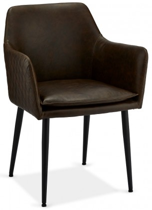 Stolička Jedálenská stolička Monda tmavo hnedá, čierna