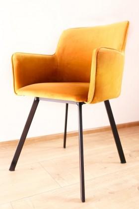 Stolička Jedálenská stolička Vian horčicová, čierna
