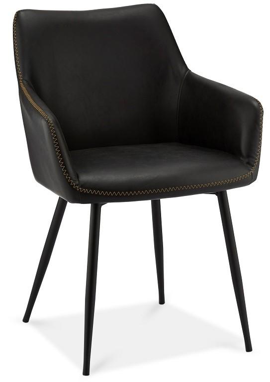 Stolička Jedálenská stolička Zalea čierna