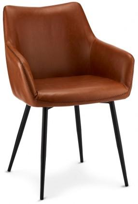 Stolička Jedálenská stolička Zalea hnedá, čierna