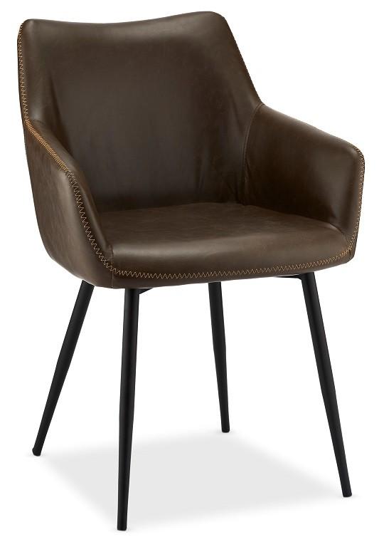 Stolička Jedálenská stolička Zalea tmavo hnedá, čierna
