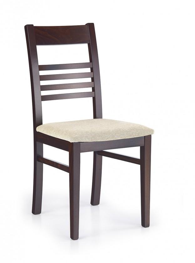 Stolička Juliusz  (béžová torent beige, orech tmavý)