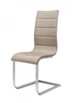 Stolička K104 (chróm, látka béžová, biela)