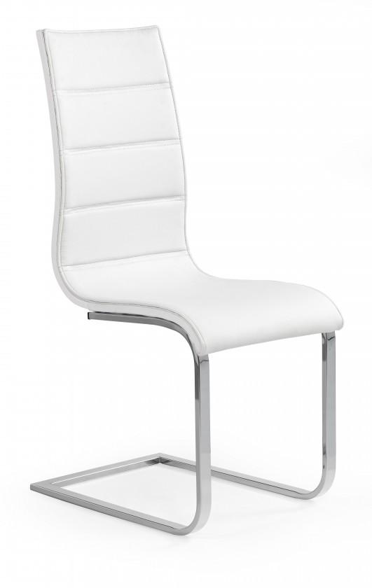 Stolička K104 - Jedálenská stolička (biela, strieborná)