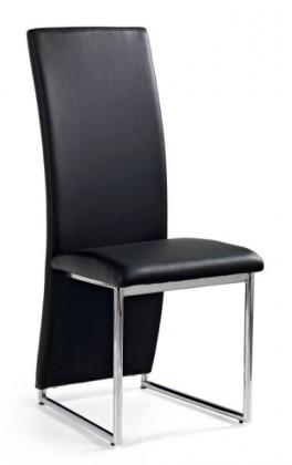Stolička K112  (eco koža čierna, chróm)
