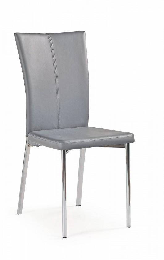 Stolička K113 - Jedálenská stolička (sivá, strieborná)